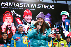 Tina Maze, alpine skiing champion in season 2012/13, at reception of Slovenian athletes in winters sports after the end of season 2012/13, on March 19, 2013 in Congress Square, Ljubljana, Slovenia.  (Photo By Vid Ponikvar / Sportida.com)