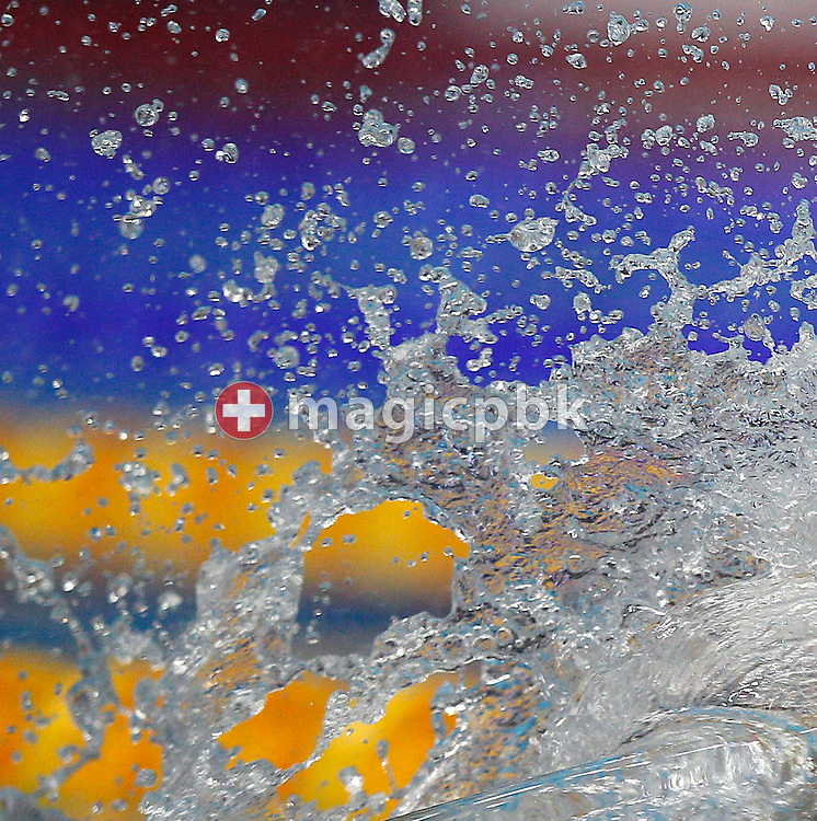 Water drops are pictured during the women's 4x50m Medley Relay Final at the 15th European Short Course Swimming Championships in Szczecin, Poland, Saturday, Dec. 10, 2011. (Photo by Patrick B. Kraemer / MAGICPBK)
