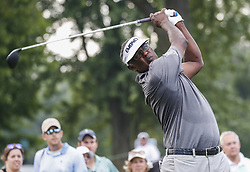 Highland Park 7/15/18  Vijay Singh of the Fiji Islands hits a drive on the 7th tee during the Final round of the Constellation Seniors Players Championships at Exmoor Country Club on the PGA Champions Tour in Highland Park, Illinois, United States of America    Hummingbird Pediatric Therapies ..Christina Morrissey, Nicole Dawson, Sarah Ahlm...Joel Lerner/JWC Media..Indianapolis, 7/15/18  during the NBA 1st round playoff series basketball game between the Cleveland Cavaliers and the Indiana Pacers at Bankers Life Fieldhouse in Indianapolis  United States of America  (Credit Image: © Joel Lerner/Xinhua via ZUMA Wire)