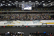 Men's quarter finals of the Street League Skateboarding World Tour Event at Queen Elizabeth Olympic Park on 25th May 2019 in London in the United Kingdom. The SLS World Tour Event will take place at the Copper Box Arena during the 25-26 May, 2019.