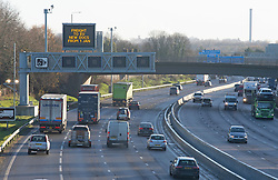 © Licensed to London News Pictures. 17/12/2020. <br /> Maidstone, UK. Freight lorries traveling towards Dover today on the M20 in Kent near Maidstone. With the Brexit transition period coming to an end on December 31st 2020 freight hauliers travelling to the EU may require a European Conference of Ministers of Transport permit for some journeys from the 1st of January 2021. It is still depend on the UK and EU negotiations as to which permits will be required. Photo credit:Grant Falvey/LNP