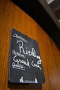 riesling sign on tank grand cru dom frederic mochel traenheim alsace france