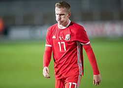 NEWPORT, WALES - Tuesday, October 16, 2018: Wales' Connor Evans after the UEFA Under-21 Championship Italy 2019 Qualifying Group B match between Wales and Switzerland at Rodney Parade. (Pic by Laura Malkin/Propaganda)