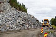 Dumper. Stein. Veibygging. FV 717 Malmveien. Juli 2019. Foto: Jørn Søderholm