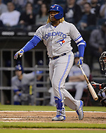 CHICAGO - MAY 16:  Vladimir Guerrero Jr. #27 of the Toronto Blue Jays bats against the Chicago White Sox on May 16, 2019 at Guaranteed Rate Field in Chicago, Illinois.  (Photo by Ron Vesely)  Subject:  Vladimir Guerrero