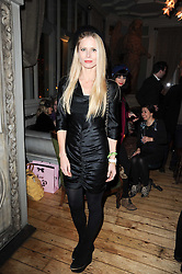LAURA BAILEY at a party to celebrate the 1st anniversary of Alice Temperley's label held at Paradise, Kensal Green, London W10 on 25th November 2010.
