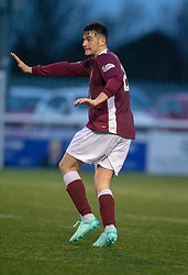 Stenhousemuir's Conor McBrearty. Stenhousemuir 1 v 0 Airdrie, Scottish Football League Division One played 26/1/2019 at Ochilview Park.