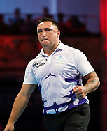 Gerwyn Price during the BetVictor World Matchplay at Winter Gardens, Blackpool, United Kingdom on 22 July 2018. Picture by Chris Sargeant.