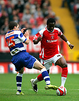 Photo: Tom Dulat.<br /> <br /> Charlton Athletic v Queens Park Rangers. Coca Cola Championship. 27/10/2007.<br /> <br /> Hogan Ephraim of Queens Park Rangers and Sam Sodje of Charlton Athletic with the ball.