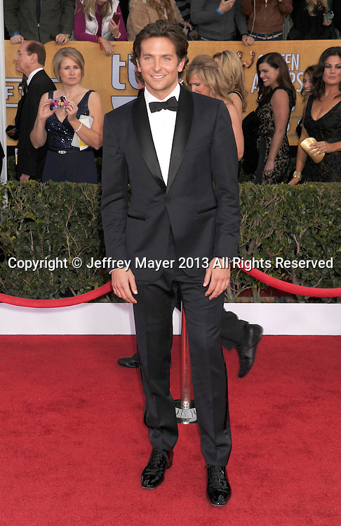 LOS ANGELES, CA - JANUARY 27: Bradley Cooper arrives at the 19th Annual Screen Actors Guild Awards at the Shrine Auditorium on January 27, 2013 in Los Angeles, California.