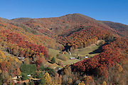 Settlement in valley of Great Smokey Nationalpark. Tennessee. United States of America.
