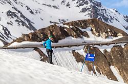 12.05.2018, Grossglockner Hochalpenstrasse, Fusch a.d. Glocknerstrasse, AUT, Großglockner Trophy Fuschertörllauf, im Bild ein Skifahrer bei der Streckenbesichtigung // a skier during course inspection before the Großglockner Trophy Fuschertörl Skirace at the Grossglockner Hochalpenstrasse, Fusch a.d. Glocknerstrasse, Austria on 2018/05/03. EXPA Pictures © 2018, PhotoCredit: EXPA/ JFK