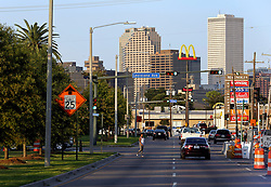23 August 2015. New Orleans, Louisiana. <br /> Hurricane Katrina revisited. <br /> The junction of Louisiana Ave and South Claiborne Ave almost a decade after the storm.<br /> Photo credit©; Charlie Varley/varleypix.com.