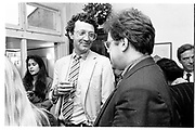 ALEX SHULMAN; william shawcross[ ? } Jonathan Meades, , Emma Soames drinks party. South London. 1987.<br /> SUPPLIED FOR ONE-TIME USE ONLY> DO NOT ARCHIVE. © Copyright Photograph by Dafydd Jones 248 Clapham Rd.  London SW90PZ Tel 020 7820 0771 www.dafjones.com