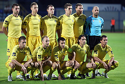 Team Domzale before 1st football game of 2nd Qualifying Round for UEFA Champions league between NK Domzale vs HNK Dinamo Zagreb, on July 30, 2008, in Domzale, Slovenia. Dinamo won 3:0. (Photo by Vid Ponikvar / Sportal Images)