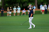 Shane Lowry (IRL) on the 1st fairway during the 1st round at the The Masters , Augusta National, Augusta, Georgia, USA. 11/04/2019.<br /> Picture Fran Caffrey / Golffile.ie<br /> <br /> All photo usage must carry mandatory copyright credit (© Golffile | Fran Caffrey)