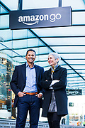 Dilip Kumar and Gianna Puerini, creators of Amazon Go store. Dilip Kumar and Gianna Puerini, creators of Amazon Go store. Photographed by Brian Smale at the first Amazon Go store.