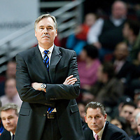 17 December 2009: New York Knicks coach Mike D'Antoni is seen during the Chicago Bulls 98-89 victory over the New York Knicks at the United Center, in Chicago, Illinois, USA.