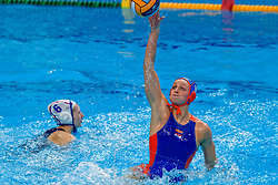 Maartje Keuning #9 of Netherlands during the semi final Netherlands vs Russia on LEN European Aquatics Waterpolo January 23, 2020 in Duna Arena in Budapest, Hungary