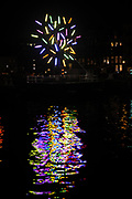 Amsterdam Light Festival is a winter light festival in the historical center of Amsterdam, a unique décor for this international light and water festival.<br /> <br /> Corresponding to the theme, 'Building with Light', 30 light sculptures and projections by international artists have been selected for this second edition. <br /> <br /> On trhe photo:  Big Tree by Jaques Rival