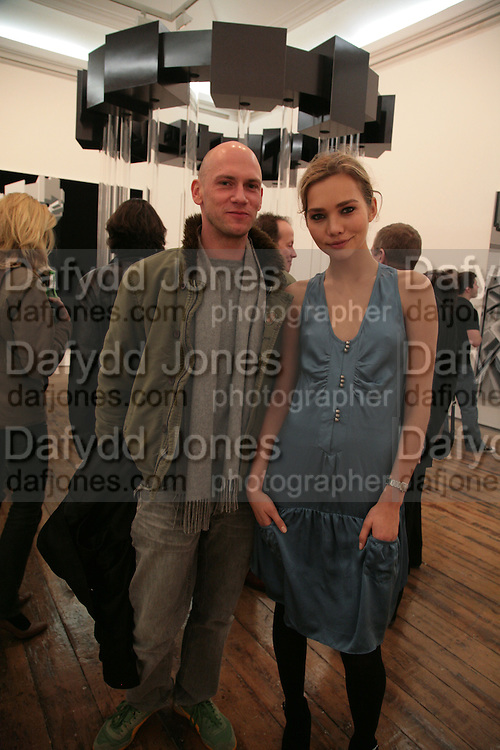 Rory Howard and Diana Kamalova, , Planit- Exhibition of work by Ian Munroe. Haunch of Venison. London. 1 March 2007.  -DO NOT ARCHIVE-© Copyright Photograph by Dafydd Jones. 248 Clapham Rd. London SW9 0PZ. Tel 0207 820 0771. www.dafjones.com.