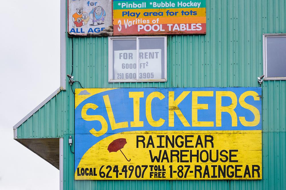 Business sign. Prince Rupert, BC