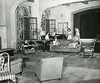 1946 Ladies lounge in the living room at the Hollywood Studio Club at 1215 Lodi Place