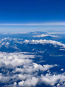 Aerial from Plane, Hawaii