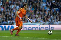 Real Madrid´s goalkeeper Iker Casillas during 2014-15 La Liga match between Real Madrid and Malaga at Santiago Bernabeu stadium in Madrid, Spain. April 18, 2015. (ALTERPHOTOS/Luis Fernandez)