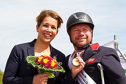 Lee Pearson and Zion World Champion Freestyle Para Dressage Grade Ib with Princess Haya bint al Hussein- Alltech FEI World Equestrian Games™ 2014 - Normandy, France.<br /> © Hippo Foto Team - Leanjo de Koster<br /> 25/06/14