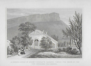 Engravings of Scottish landscapes and buildings from late eighteenth and early nineteenth century, Regent Murray's garden summer house, Scotland