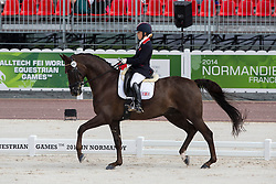 Philippa Johnson Dwyer, (RSA), Verdi - Freestyle Test Grade IV Para Dressage - Alltech FEI World Equestrian Games™ 2014 - Normandy, France.<br /> © Hippo Foto Team - Leanjo de Koster<br /> 29/08/14