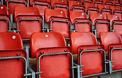 Empty seats in the stadium prior to kick-off- Mandatory by-line: Nizaam Jones/JMP - 21/11/2020 - FOOTBALL - Jonny-Rocks Stadium - Cheltenham, England - Cheltenham Town v Walsall - Sky Bet League Two