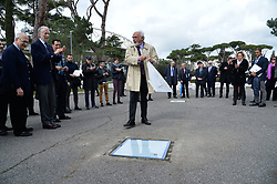 March 12, 2018 - Rome, Italy - The ceremony Walk of Fame in Rome, Italy, on 12 March 2018. The Walk of Fame is enriched with 5 more samples. Along the Via Olimpiadi, which leads straight to the Olympic stadium in Rome, new plates have been added dedicated to five blue champions no longer in business: the historic Milan captain and national defender, soccer player Paolo Maldini, the swimmer Massimiliano Rosolino, the middle distance runner Luigi Beccali, the cyclist Ercole Baldini and the volleyball player Samuele Papi. (Credit Image: © Silvia Lore/NurPhoto via ZUMA Press)
