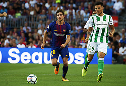 August 20, 2017 - Barcelona, Catalonia, Spain - Sergi Roberto and Narvaez during La Liga match between F.C. Barcelona v Real Betis Balompie, in Barcelona, on August 20, 2017. hoto: Joan Valls/Urbanandsport/Nurphoto  (Credit Image: © Joan Valls/NurPhoto via ZUMA Press)
