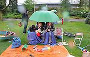 Nederland, Nijmegen, 30-4-2010Koninginnedag in het goffertpark. De vrijmarkt is door de regen lettelijk in het water gevallen.Foto: Flip Franssen/Hollandse Hoogte