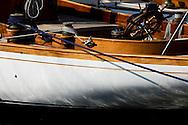 28SEP09 Les Voiles De St Tropez 2009..The hull of Altair.