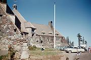 CS00958-11. Timberline Lodge on Mt. Hood.  1950s