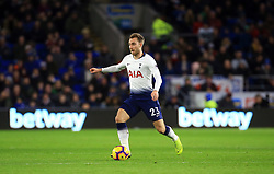Tottenham Hotspur's Christian Eriksen during the Premier League match at Cardiff City Stadium, Cardiff.