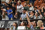 Fans enjoy the Sal's Pizza NBL Round 8 match, Hawkes Bay Hawks vs Auckland Rangers, Pettigrew Green Arena, Napier, Saturday, June 16, 2018. Copyright photo: Kerry Marshall / www.photosport.nz