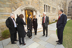 Trumbull College Rededication, Yale University, on 18 April 2007. View taken at this event.