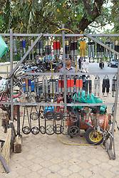 Street Vendor Selling Shock Absorbers