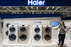 New twin washing machine and dryers by Haier at 2016  IFA (Internationale Funkausstellung Berlin), Berlin, Germany