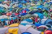 Tents, tens, tents - The 2017 Glastonbury Festival, Worthy Farm. Glastonbury, 2 June 2017