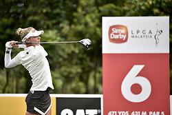 October 26, 2017 - Kuala Lumpur, Malaysia - Nelly Korda of USA during day one of the Sime Darby LPGA Malaysia at TPC Kuala Lumpur East Course on October 26, 2017 in Kuala Lumpur, Malaysia. (Credit Image: © Chris Jung/NurPhoto via ZUMA Press)