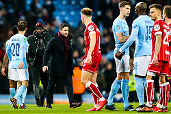 Bristol City Head Coach Lee Johnson looks on after Manchester City win 2-1 in added time - Rogan/JMP - 09/01/2018 - Etihad Stadium - Manchester, England - Manchester City v Bristol City - Carabao Cup Semi Final First Leg.