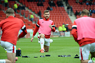 Andy Butler warms up before the EFL Sky Bet League 1 match between Doncaster Rovers and Coventry City at the Keepmoat Stadium, Doncaster, England on 4 May 2019.*** during the EFL Sky Bet League 1 match between Doncaster Rovers and Coventry City at the Keepmoat Stadium, Doncaster, England on 4 May 2019.