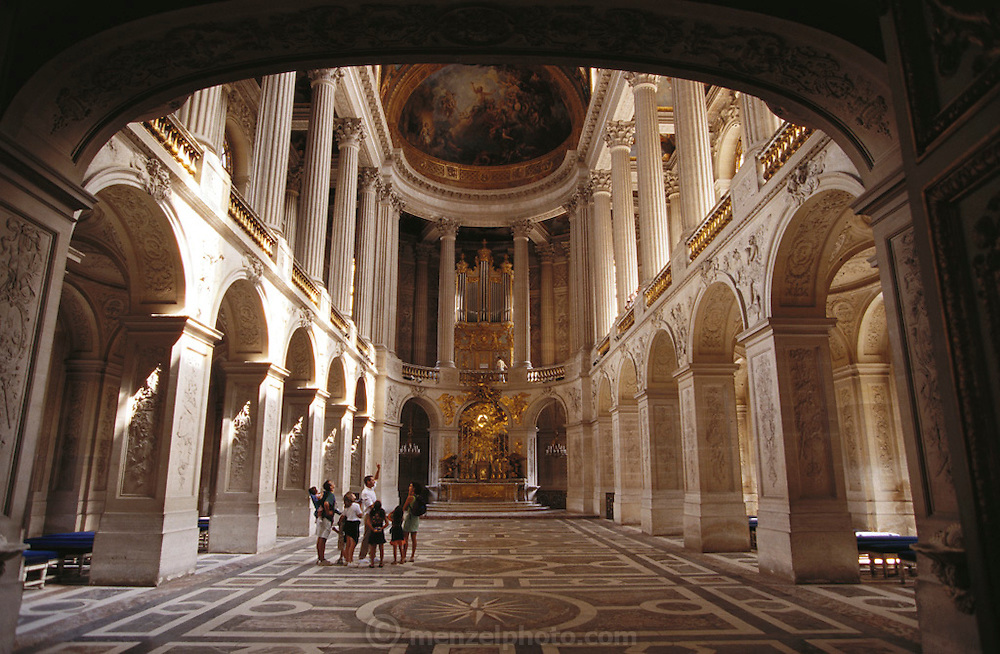 Versailles Palace interior. Near Paris, France.