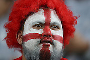 An English supporter during the third rugby test between the All Blacks and England played at Waikato Stadium in Hamilton during the Steinlager Series - All Blacks v England, Hamiton, 21 June 2014<br /> www.photosport.co.nz
