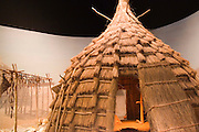 Topeka, Kansas KS, USA, Kansas museum of History, Tents of Kansan native American